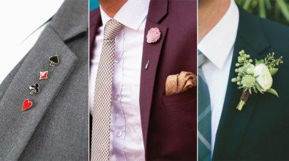 Lapel Pins Boutonniere Long-Stem Badges