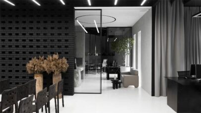 Black and White Office Interior