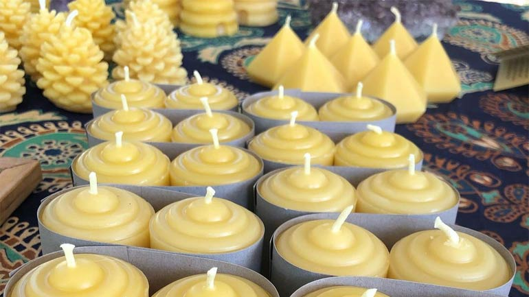 Making Beeswax Candles Home