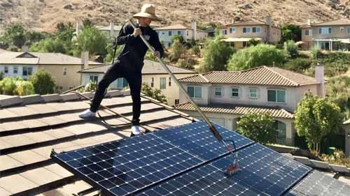 Clean Residential Solar Panels